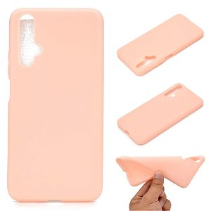 Huawei Nova 5T / Honor 20 Fleksibelt Mat Cover - Pink