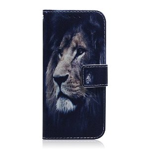 Huawei P Smart Pro Læder Flip Cover - Sød Løve