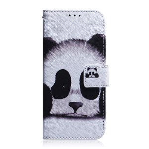 Huawei P Smart Pro Læder Flip Cover - Sød Panda