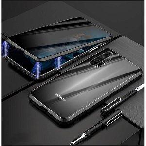 Honor 20 Pro 360° Magnetisk Cover m. Privacy Glas Forside - Sort