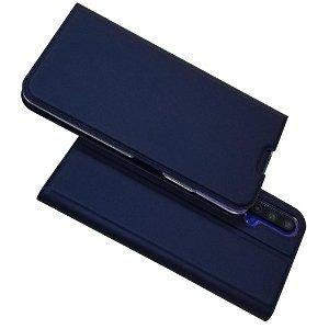 Huawei Nova 5T / Honor 20 Magnetisk Læder Cover m. Kortholder Mørkeblå