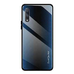 Huawei P Smart Pro Cover m. Glasbagside - Blue Fade