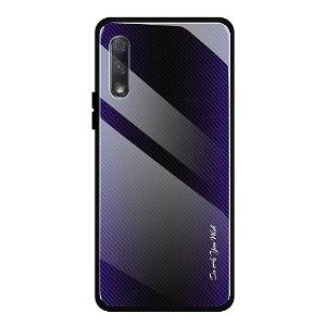 Huawei P Smart Pro Cover m. Glasbagside - Purple Fade