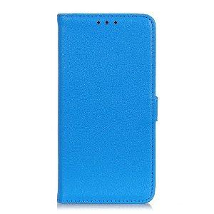 Huawei P40 Lite E Litchi Læder Cover m. Pung - Blå
