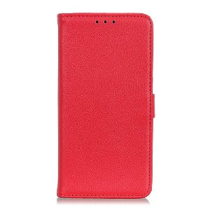 Huawei P40 Lite E Litchi Læder Cover m. Pung - Rød