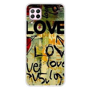 Huawei P40 Lite Fleksibelt Plastik Cover - LOVE