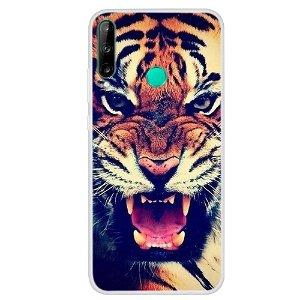 Huawei P40 Lite E Fleksibelt Plast Cover - Tiger
