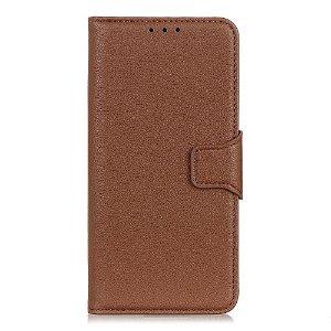 Huawei Y6p Litchi Læder Cover m. Kortholder - Brun
