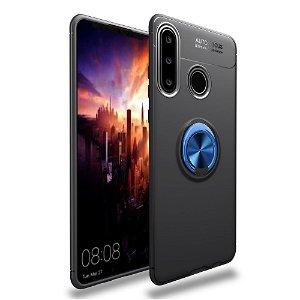 Huawei Y6p Magnetisk Kickstand Sort M. Blå Ring
