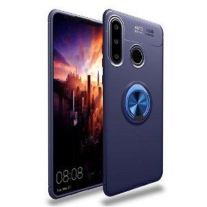Huawei Y6p Magnetisk Kickstand Blå M. Blå Ring