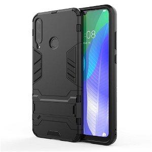 Huawei Y6p Håndværker Case m. Kickstand - Sort