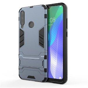 Huawei Y6p Håndværker Case m. Kickstand - Metalblå
