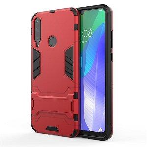 Huawei Y6p Håndværker Case m. Kickstand - Rød