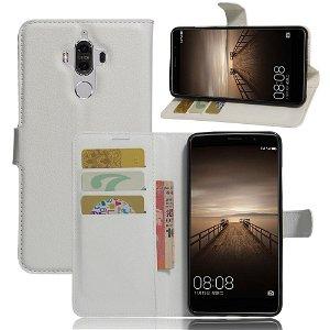 Huawei Mate 9 PU Læder FlipCover m. Kortholder - Hvid