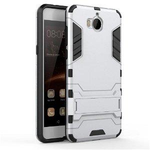 Huawei Y6 (2017) Håndværker Cover m. Fod Sølv