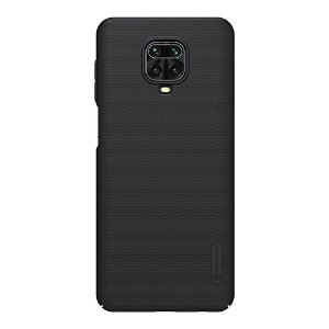 Xiaomi Redmi Note 9 Pro NILLKIN Frosted Shield Cover inkl. Stander - Sort