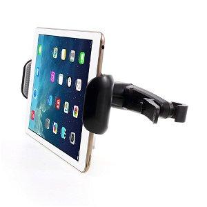 """Universal Back Seat Nakkestøtte Tabletholder m. 360 Graders Positionering 7-15"""" - Sort"""