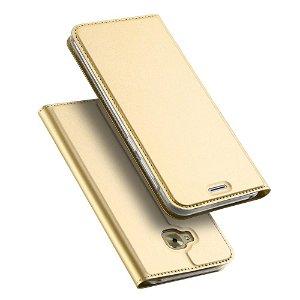 DUX DUCIS Skin Pro Series for ASUS Zenfone 4 Selfie Pro (ZS552KL) Thin Wallet Guld