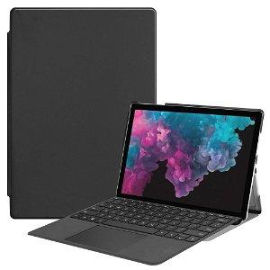 Microsoft Surface Pro 6/5/4 Folio Læder Cover - Sort