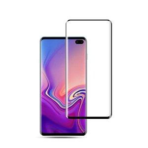 Samsung Galaxy S10+ Plus Panserglas m. Sort Kant