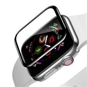 Baseus Apple Watch SE / 6 / 5 / 4 (40mm) Full Fit Panserglas  m. Sorte Kanter