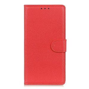 OnePlus Nord CE (5G) Læder Flip Cover m. Kortholder & Ståfunktion - Rød