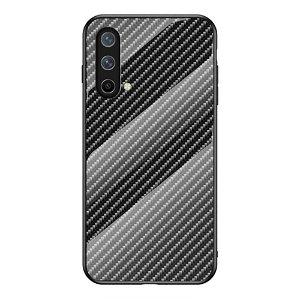 OnePlus Nord CE (5G) Bagside Cover m. Glasbagside - Sort Carbon