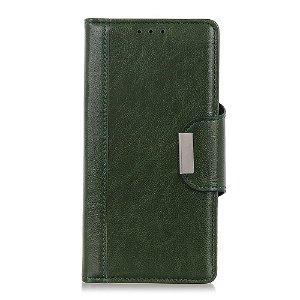 OnePlus Nord 2 (5G) Klassisk Læder Flip Cover m. Pung - Grøn