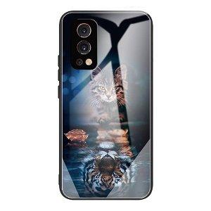 OnePlus Nord 2 (5G) Fleksibelt Hybrid Bagside Cover m. Print - Tiger og Killing