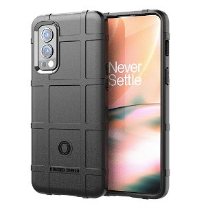 OnePlus Nord 2 (5G) Rugged Shield Series Bagside Cover - Sort