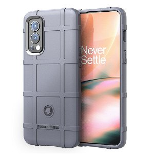 OnePlus Nord 2 (5G) Rugged Shield Series Bagside Cover - Grå