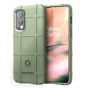 OnePlus Nord 2 (5G) Rugged Shield Series Bagside Cover - Grøn