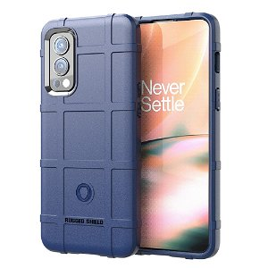 OnePlus Nord 2 (5G) Rugged Shield Series Bagside Cover - Blå