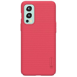 OnePlus Nord 2 (5G) NILLKIN Frosted Shield Bagside Cover inkl. Stander - Rød