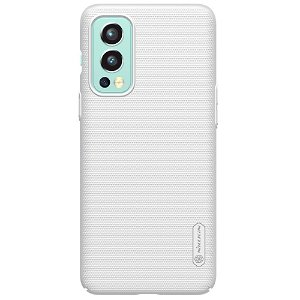 OnePlus Nord 2 (5G) NILLKIN Frosted Shield Bagside Cover inkl. Stander - Hvid