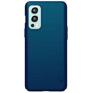 OnePlus Nord 2 (5G) NILLKIN Frosted Shield Bagside Cover inkl. Stander - Blå