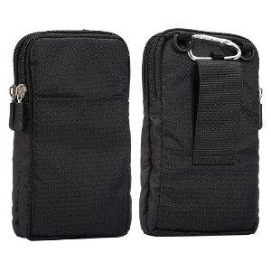Bæltetaske Til Smartphones m. Karabinhage & Strop - Sort