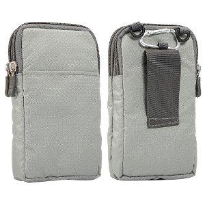 Bæltetaske Til Smartphones m. Karabinhage & Strop - Grå