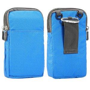 Bæltetaske Til Smartphones m. Karabinhage & Strop - Blå