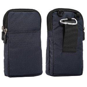Bæltetaske Til Smartphones m. Karabinhage & Strop - Mørkeblå