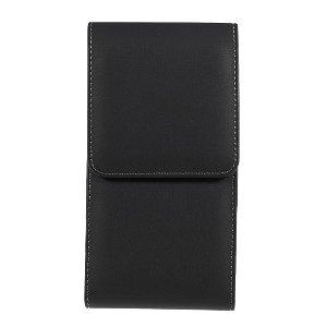 Universal Oxford Cloth Læder Bæltetaske Til Mobil - XXL - Sort - (Maks. Mobil: 160 x 80 x 16 mm)