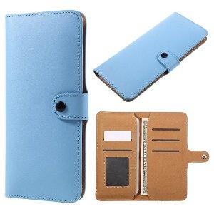 Universal Læder Etui med Kortholder (Large) - Blå