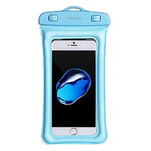 USAMS Universal Waterproof Cover m. Rem & Airbag (Maks. Mobil: 160 x 78 x 10 mm) - Blå
