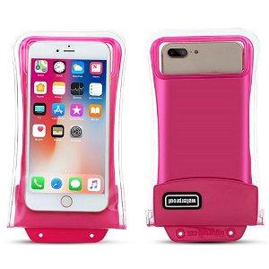 Universal Waterproof Cover m. Airbag & Rem (Maks. Mobil: 158 x 78 x 10 mm) - Pink