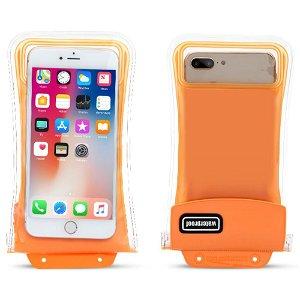 Universal Waterproof Cover m. Airbag & Rem (Maks. Mobil: 158 x 78 x 10 mm) - Orange