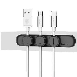 Baseus Peas Magnetisk Kabel Klips Holder - Sort