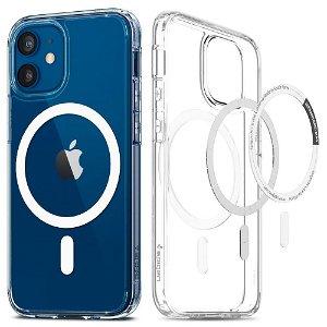 iPhone 12 Mini Spigen Ultra Hybrid Cover - MagSafe Kompatibel - Gennemsigtig / Hvid