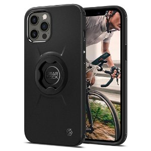 iPhone 12 / 12 Pro Spigen Gearlock GCF132 Bike Mount Case - Sort