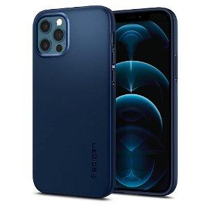 iPhone 12 / 12 Pro Spigen Thin Fit Cover - Navy Blue