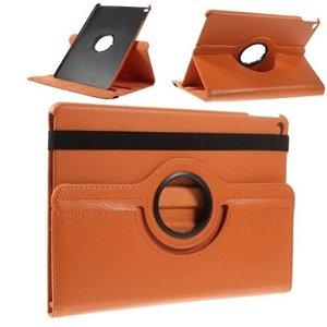 Apple iPad Air 2 Rotating Litchi Smart Cover Stand - Orange